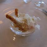 67124752 - ホワイトアスパラガスと温度卵のパルミジャーノ風味