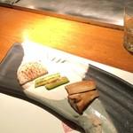 ぷれじでんと千房 - 焼き野菜の盛合せ(3種)