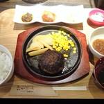 67129084 - ランチ:九州産黒毛和牛のハンバーグ定食