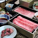 京都つゆしゃぶCHIRIRI - 料理写真:食べ比べコース