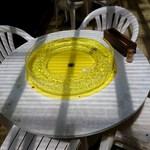 黒淵荘 - 流し素麺用テーブル