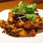 喜臨軒 - 台湾マコモ茸と茄子の四川風炒め