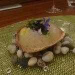 Ristorante Due  - 四品目:毛蟹、豆、一番出汁