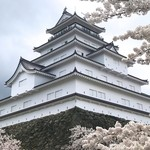 67130377 - 紫色の屋根と白い壁の鶴賀城