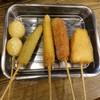 串だおれ - 料理写真:串カツ5種類盛り680円(税抜)