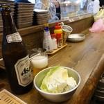 串だおれ - 中瓶ビール(スーパードライ)500円(税抜)