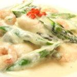 ヌーベルシノワ一品香 - 小海老とアスパラのクリーム煮
