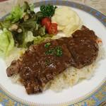 キッチングランパ - 料理写真:ステーキピラフ。彩りが好い。税込1458円。