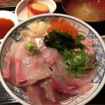 葱や平吉 - 本日の魚定食(海鮮丼) 1000円。