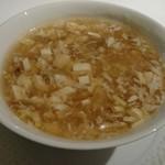67141813 - 鴨肉と豆腐のとろみスープ