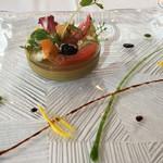 67145501 - ムール貝のムース オマールのジュレ