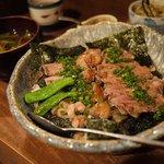 塩梅 - ロースビフテキ丼+大盛