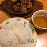 サイゼリヤ - 鶏肉のオーブン焼きバルサミコ甘酢ソース☆★★☆セットライス大