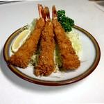 グリルおおくぼ - 海老フライ定食