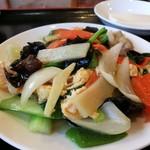 糀家 - 玉子キクラゲ豚肉炒め