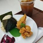 和味茶屋 こめまる - たぬきしょうが+ 塩ザンギセット 510円