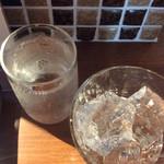焼き鳥スタンド酒場 角福 - 焼酎、300円ソーダ付き