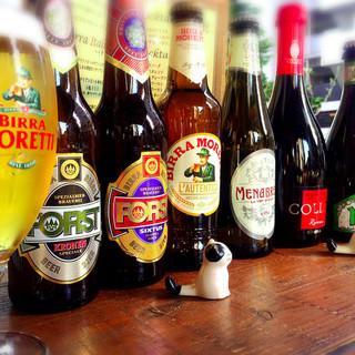 イタリアのクラフトビールなど豊富なイタリアンビール8種以上♪