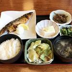 和食れすとらん天狗 - さばの一夜干し御膳 ¥699(税別)