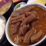 67160425 - もつ煮定食 (もつ大) ¥770