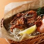 ホテルオークラ神戸 テラスレストラン ビアガーデン - ソフトシェルクラブの唐揚げ ケイジャンスパイス風