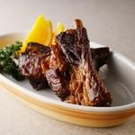 ホテルオークラ神戸 テラスレストラン ビアガーデン - ポークスペアリブのカリビアン風