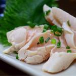 鶏翔 - ササミ刺し@580円