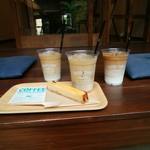 GOOD TIME COFFEE - カフェラテとソイラテとチーズケーキ
