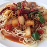 67165008 - ラグマン羊肉野菜炒め(丸麺、辛め、1.5人前)