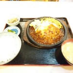 レストラン 味禄 - チーズバーグ定食