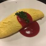 炭焼きBAR 倉庫 - チーズオムレツ