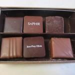 JEAN-PAUL HEVIN - ショコラ6個詰め合わせ2184円。  これは店員さんにお勧めを選んで貰って詰め合わせにして貰えました。
