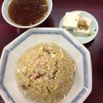 中華そばもりや - チャーハンには小皿とスープが付きます