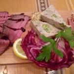ペッシェドーロ - お肉の前菜盛り合わせ