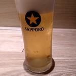 うどん居酒屋 武蔵野 はせがわ - グラスビール