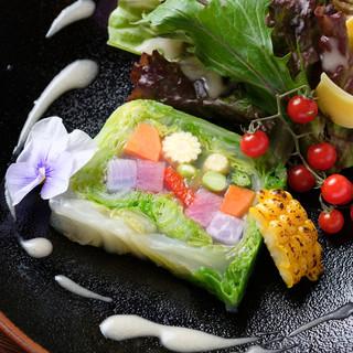 有機栽培・特別栽培など、こだわりの農産物を使用した料理