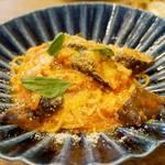 クッチーナ フルッタ - 福岡産なすとベーコンのトマトソース。