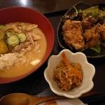 浜の台所 おらが - 【日替り定食】冷汁と若鶏の唐揚げ(750円)