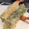 天婦羅専門店深川 - 料理写真:お昼の献立エビとしそ巻き
