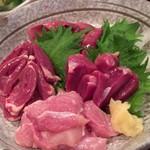 鳥富 - 料理写真:めっちゃ美味い鳥刺し^_^