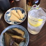平野屋 - 高野・茄子+ポン2杯=840円