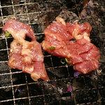 仔牛亭 - 豚サガリ(680円) ※焼き状態