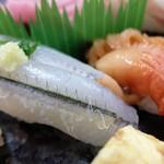若草寿司 - さより&赤貝
