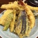 銚子屋 - 天麩羅盛り合わせ