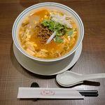 平和樓 - 酸辣湯麺と担々麺のハイブリッド『スーラー担々麺』という夢のような企画。