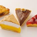 ファソン・ドゥ・ドイ - 料理写真:ナッツパイ・レモンパイ・チョコパイ・チェリーパイ