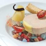フランス料理  セルジュ&ジェーン - フォアグラのテリーヌリンゴのコンポート添え