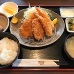 かざま - エビフライ・ヒレカツ定食