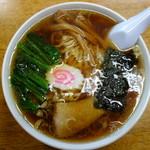 茶釜 - 中華そば(¥650税込み)