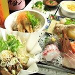 とら吉 - 宴会はとら吉で!お一人様ずつでます!写真は一人前です!飲み放題2H付3500円コースの写真です!